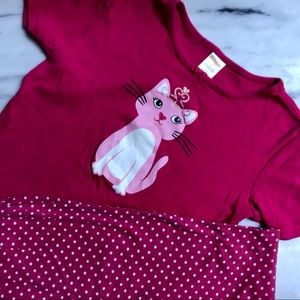 💕 Gymboree Pink Sleep Set 💤 Size 12 💕